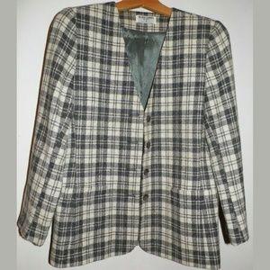 Women 8P Alfred Dunner Wool Blend Blazer Jacket